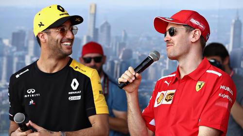 Waren 2014 Teamkollegen bei Red Bull: Daniel Ricciardo und Sebastian Vettel