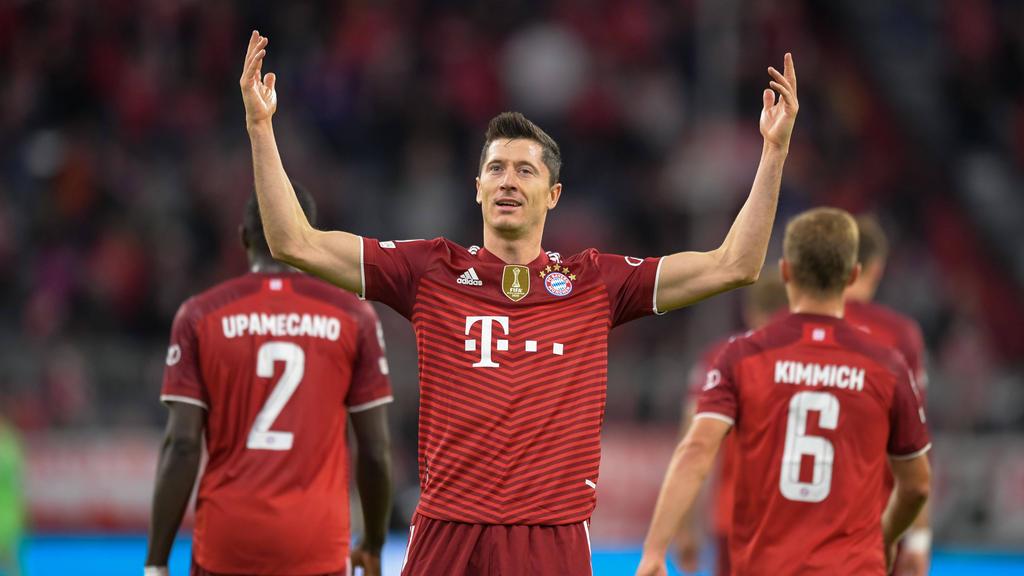 Robert Lewandowski sorgt im Trikot des FC Bayern weiter für Rekorde