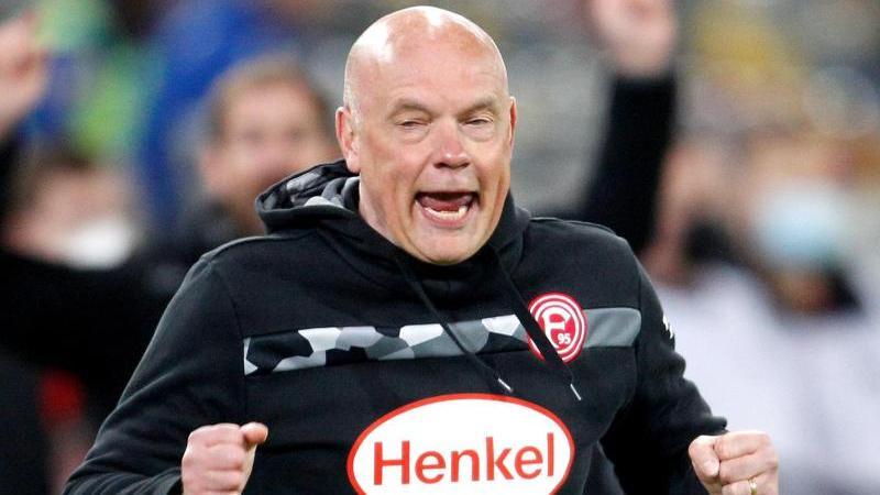 Uwe Rösler hofft für Fortuna Düsseldorf auf einen mentalen Vorteil im Zweitliga-Aufstiegskampf