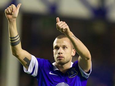 Heitinga als speler van Everton.