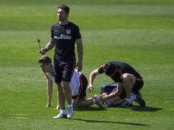 José Giménez im Training bei Atlético