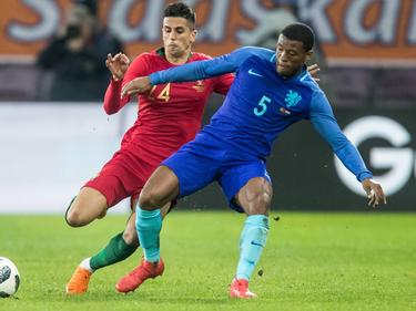 Joao Cancelo en un partido internacional con Portugal. (Foto: Getty)