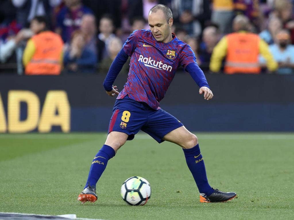 Andres Iniesta spielt derzeit noch für den FC Barcelona