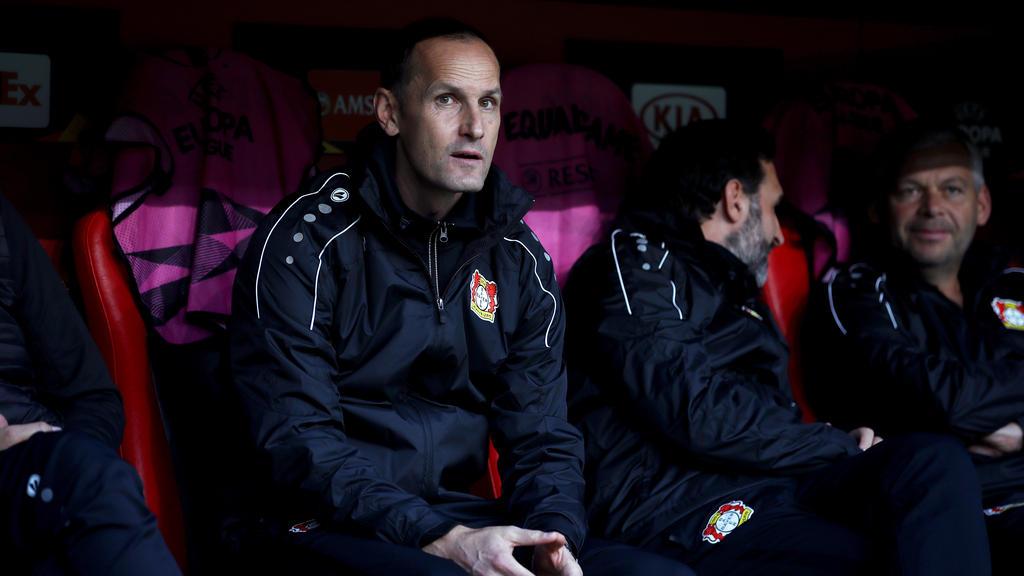 Trainer Heiko Herrlich von Bayer Leverkusen hofft auf Rückkehr der Verletzten