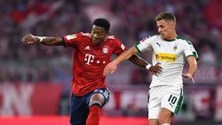Thorgan Hazard (r.) konnte in der Hinserie mit Gladbach gegen Bayern 3:0 gewinnen