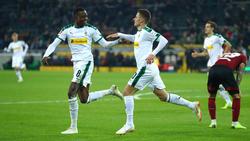 Alassane Pléa und Thorgan Hazard trafen für Borussia Mönchengladbach