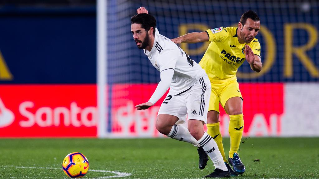 Santi Cazorla (r.) erzielte beim Remis gegen Real Madrid zwei Tore