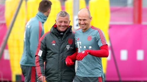 Arjen Robben beim FC Bayern zurück im Team-Training