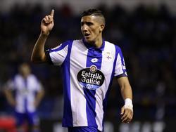 Fayçal Fajr con la camiseta del Deportivo de La Coruña. (Foto: Getty)