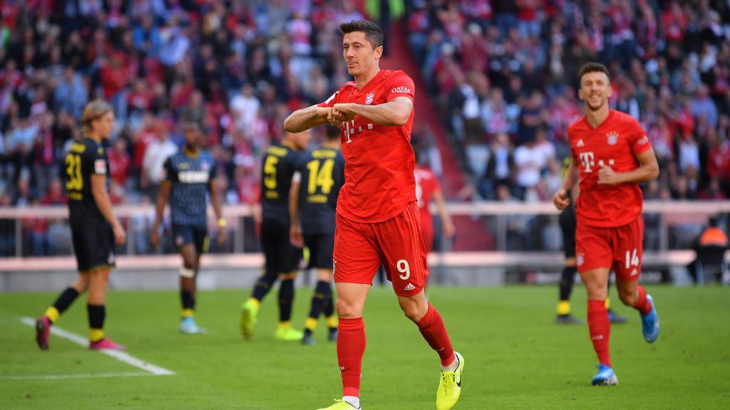 Robert Lewandowski knipst für den FC Bayern nach Belieben