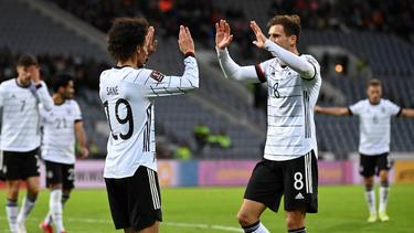 Viermal durfte das DFB-Team gegen Island jubeln
