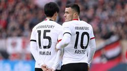 Kamada (l.) und Kostic sollen beide in Frankfurt bleiben