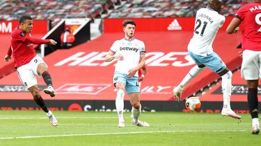 Mason Greenwood (l.) erzielte den Treffer für Manchester United
