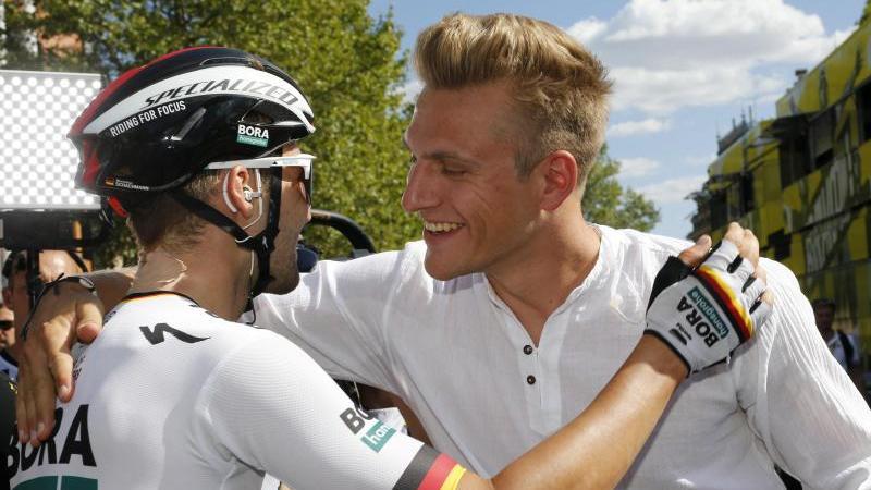 Ex-Sprintstar und aktueller Meister vereint:Marcel Kittel (r.) und Maximilian Schachmann