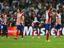 Calciatori dell'Atletico Madrid durante la finale di Champions
