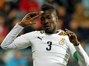 Asamoah Gyan en una imagen de archivo con la camiseta de Ghana. (Foto: Getty)