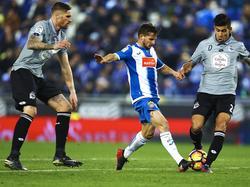 Pablo Piatti en un partido del Espanyol. (Foto: Imago)