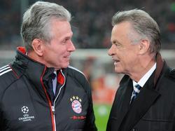 Ottmar Hitzfeld (r.) zollte Jupp Heynckes großen Respekt