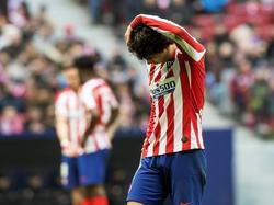 João Félix se lamenta tras el empate en el Wanda.