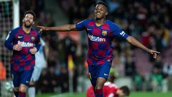 Fati traf doppelt für Barca