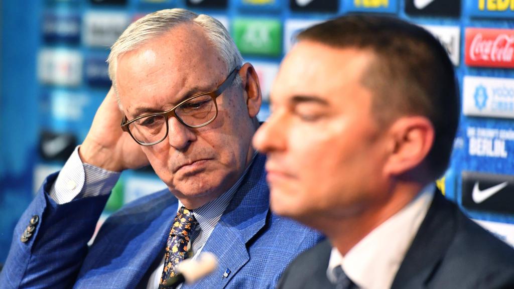 Lars Windhorst (r.) und Werner Gegenbauer (l.) haben konkrete Pläne mit Hertha BSC