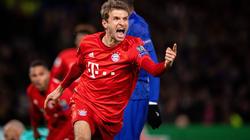 Thomas Müller celebra un tanto ante el Chelsea.
