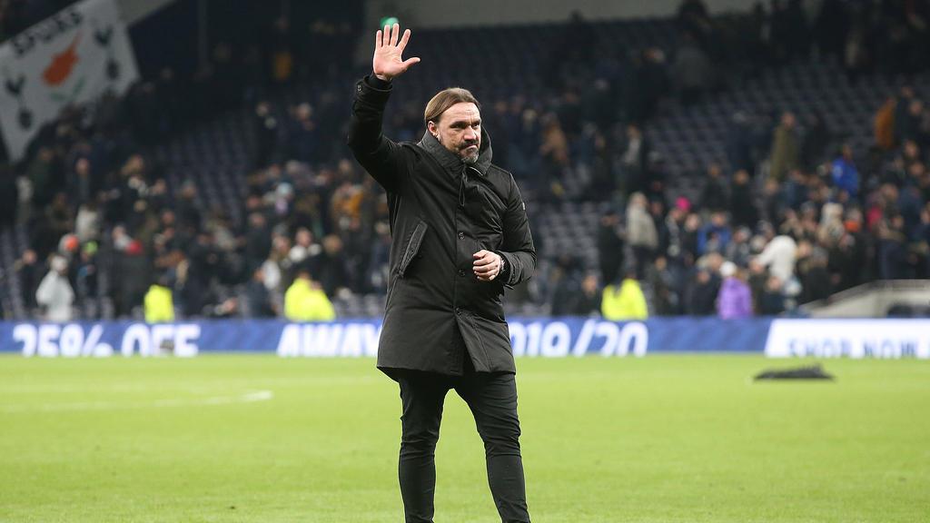 Die Norwicher Mannschaft und Teammanager Daniel Farke spenden einen Teil ihres Gehalts