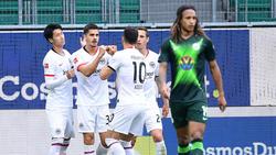 Eintracht Frankfurt rang den VfL Wolfsburg nieder