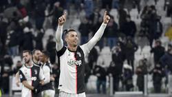 Ronaldo celebra un tanto con la Juventus.