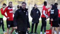 Droht bei einer Klatsche gegen den BVB das Aus: Markus Gisdol vom 1. FC Köln