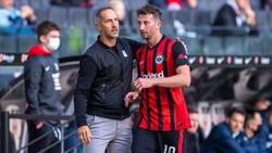David Abraham (r.) gab am Sonntag seinen Ausstand bei Eintracht Frankfurt