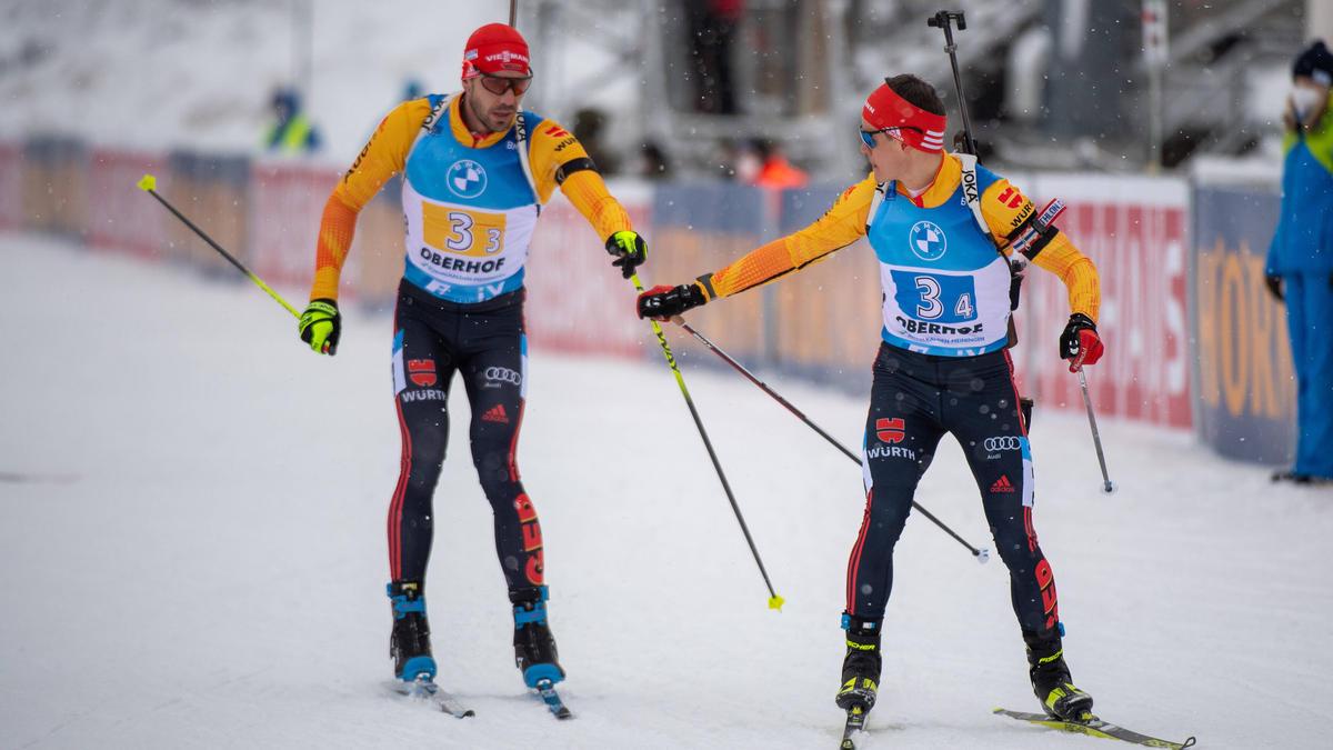 Die deutschen Skijäger sicherten sich in Antholz den vierten Platz