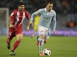 Éver Banega anotó el primer gol del Sevilla en Balaídos. (Foto: Imago)
