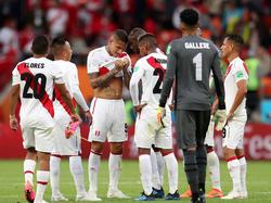 Die peruanischen Nationalspieler können das Achtelfinale nicht mehr erreichen