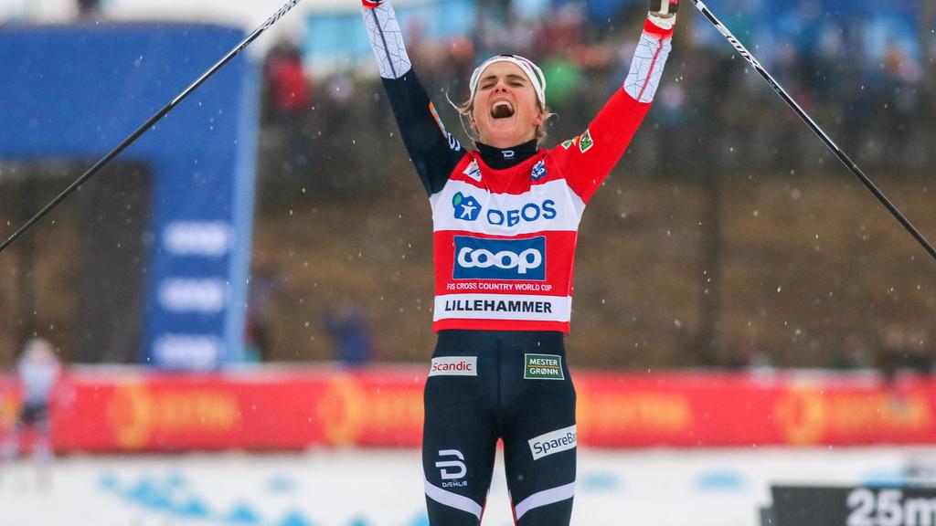 Therese Johaug gewann in Lillehammer im Freistil