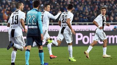 Cristiano Ronaldo traf für Juventus kurz vor Schluss zum 2:2