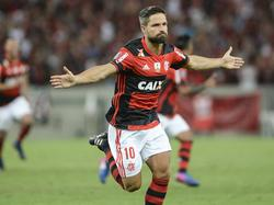 Diego celebra un gol con el Flamengo. (Foto: Getty)
