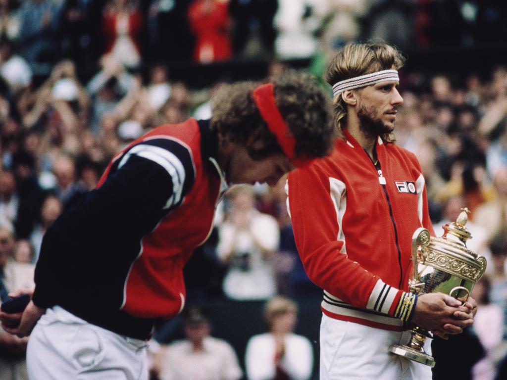 Zwei ungleiche Rivalen auf dem Tennis-Court: John McEnroe (l.) und Björn Borg