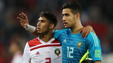 Stehen im Achtelfinale des Afrika-Cups: Marokkos Fußball-Nationalspieler. Foto: Oliver Weiken