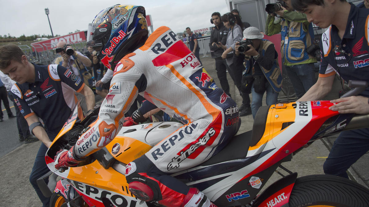 Sieg unter Druck: Marc Márquez holte vorzeitig den Herstellertitel für Honda