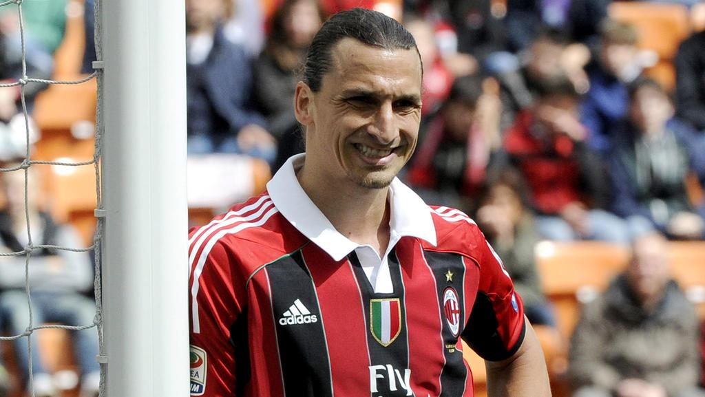 Zlatan Ibrahimovic en su etapa en el Milan.