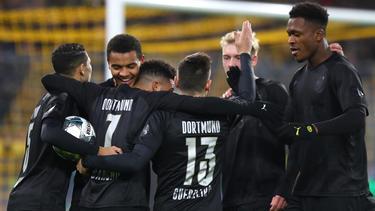 Gleich fünf Treffer konnten die BVB-Stars bejubeln