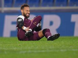 Neymar sufrió una lesión con el PSG.