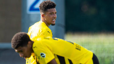 Jadon Sancho und Jude Bellingham spielen gemeinsam für den BVB und die Three Lions
