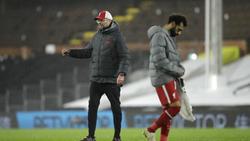Mohamed Salah (r.) wird beim FC Liverpool von Jürgen Klopp trainiert