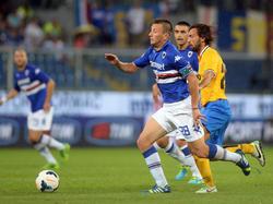 Sampdorias Verteidiger Daniele Gastaldello (l.) hadert mit dem Saisonstart