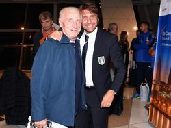 Trapattoni (l.) mit Chelsea-Coach Conte