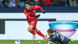 Daichi Kamada spielt bei Eintracht Frankfurt in dieser Saison nur eine Nebenrolle