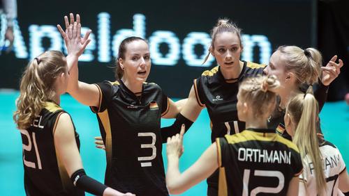 Die deutschen Volleyballerinnen stehen im Finale