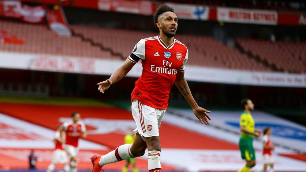 Pierre-Emerick Aubameyang schnürte gegen Norwich City einen Doppelpack